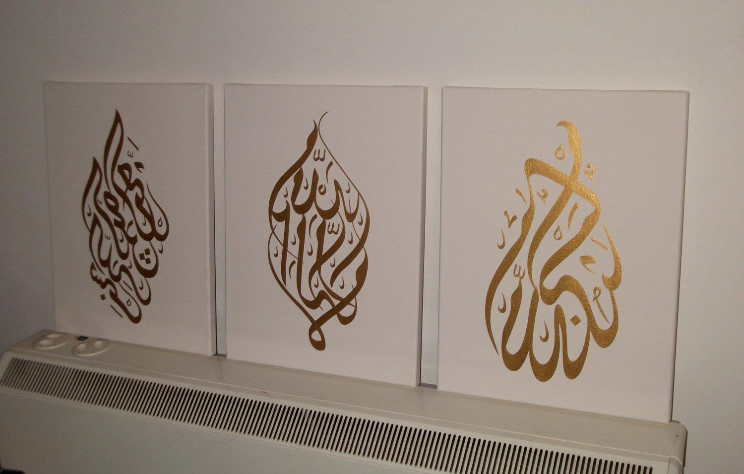 Arabic Wall Art Pertaining To Fashionable Arabic Calligraphy Islamic Handmade Pictures Wall Art Oil Paintings (View 5 of 20)
