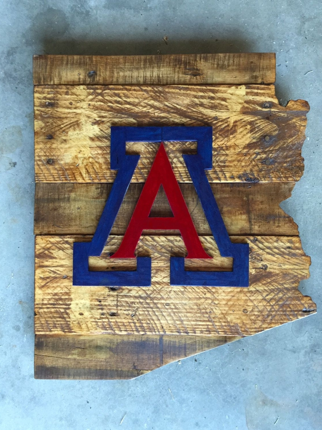 Arizona Wall Art Regarding 2018 University Of Arizona Wood Sign, Arizona Sign, University Of Arizona (View 6 of 20)
