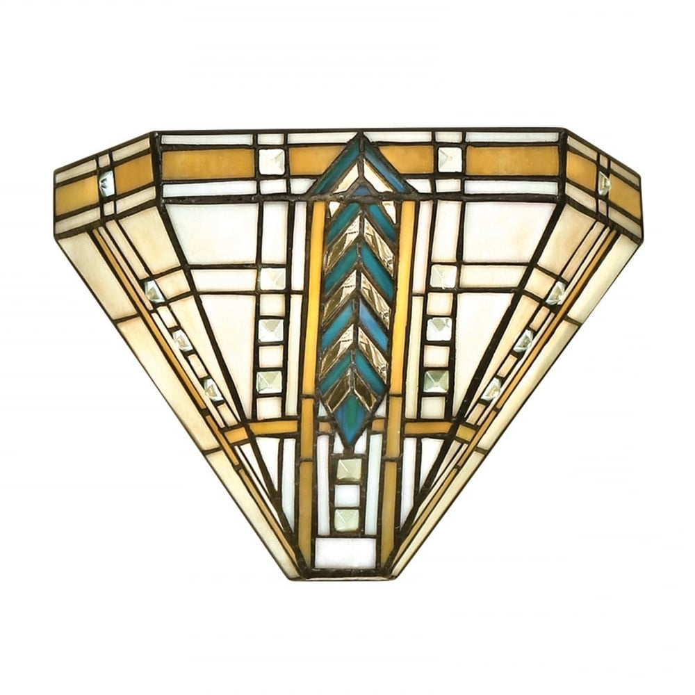 Art Deco Wall Art Regarding Popular Tiffany Art Deco Uplighter Wall Washer Wall Light With Chevron Pattern (View 7 of 20)