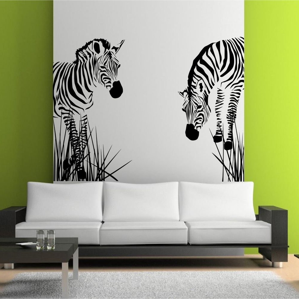 Art For Walls In Best And Newest Zebra Prints For Walls Zebra Wall Mural Wall Hanging Decor Framed (View 3 of 20)