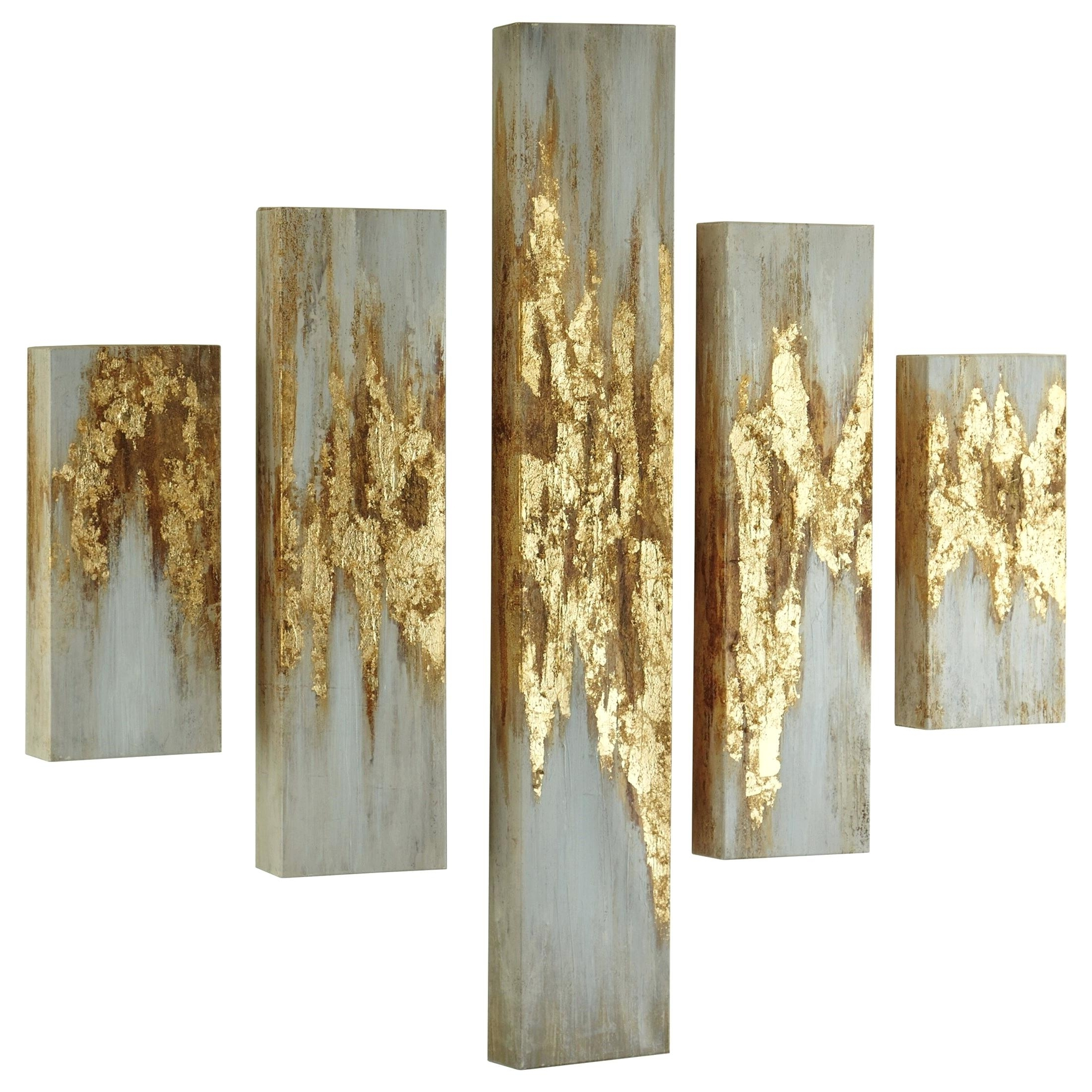 Ashley Wall Signature Designwall Art Gold Finish White Wall Art Intended For Most Recent Ashley Furniture Wall Art (View 5 of 15)