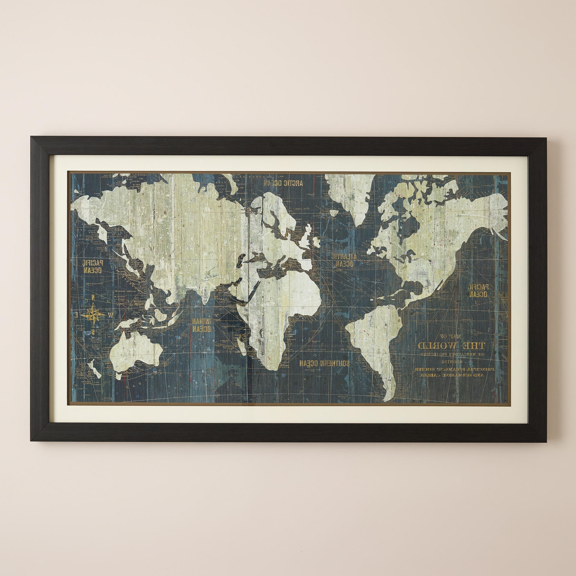Astroinstitute Within Most Recently Released World Map Wall Art Framed (View 2 of 20)