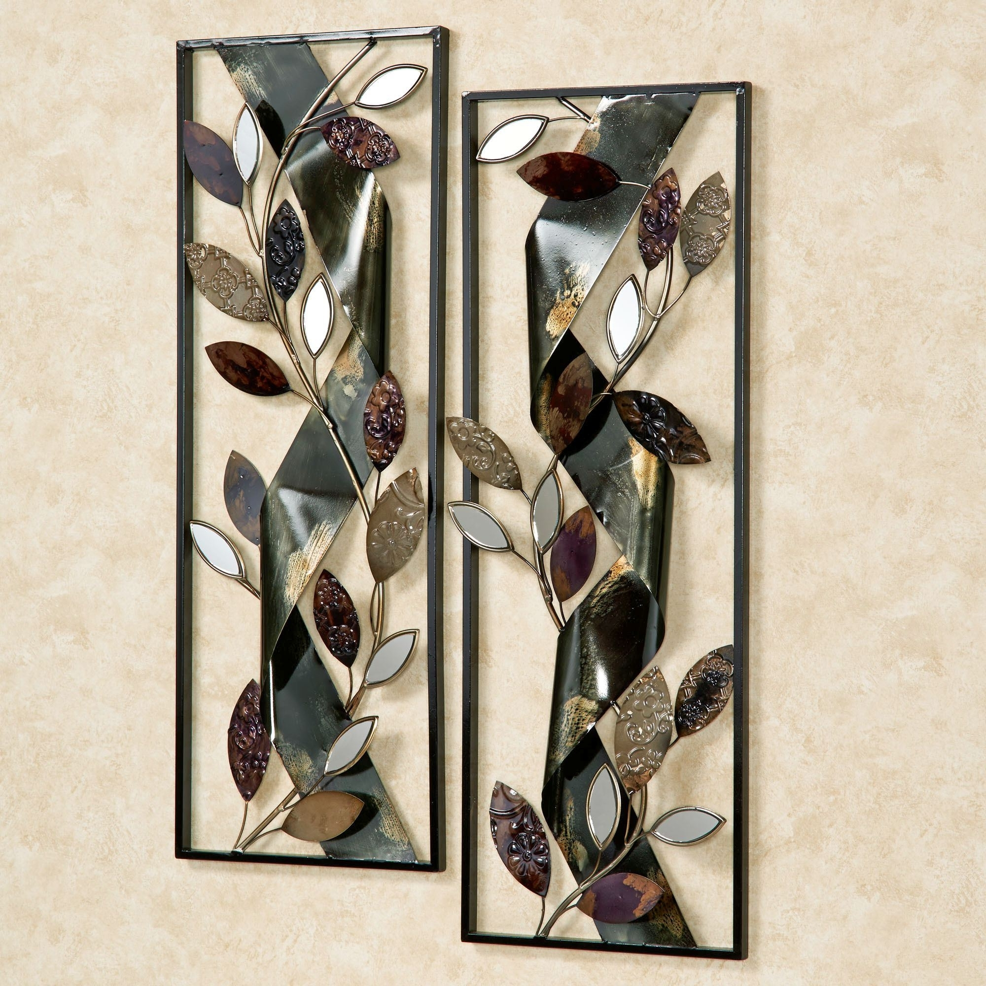 Autumn Whisper Metal Wall Art Panel Set In Well Known Metal Wall Art Panels (View 3 of 20)