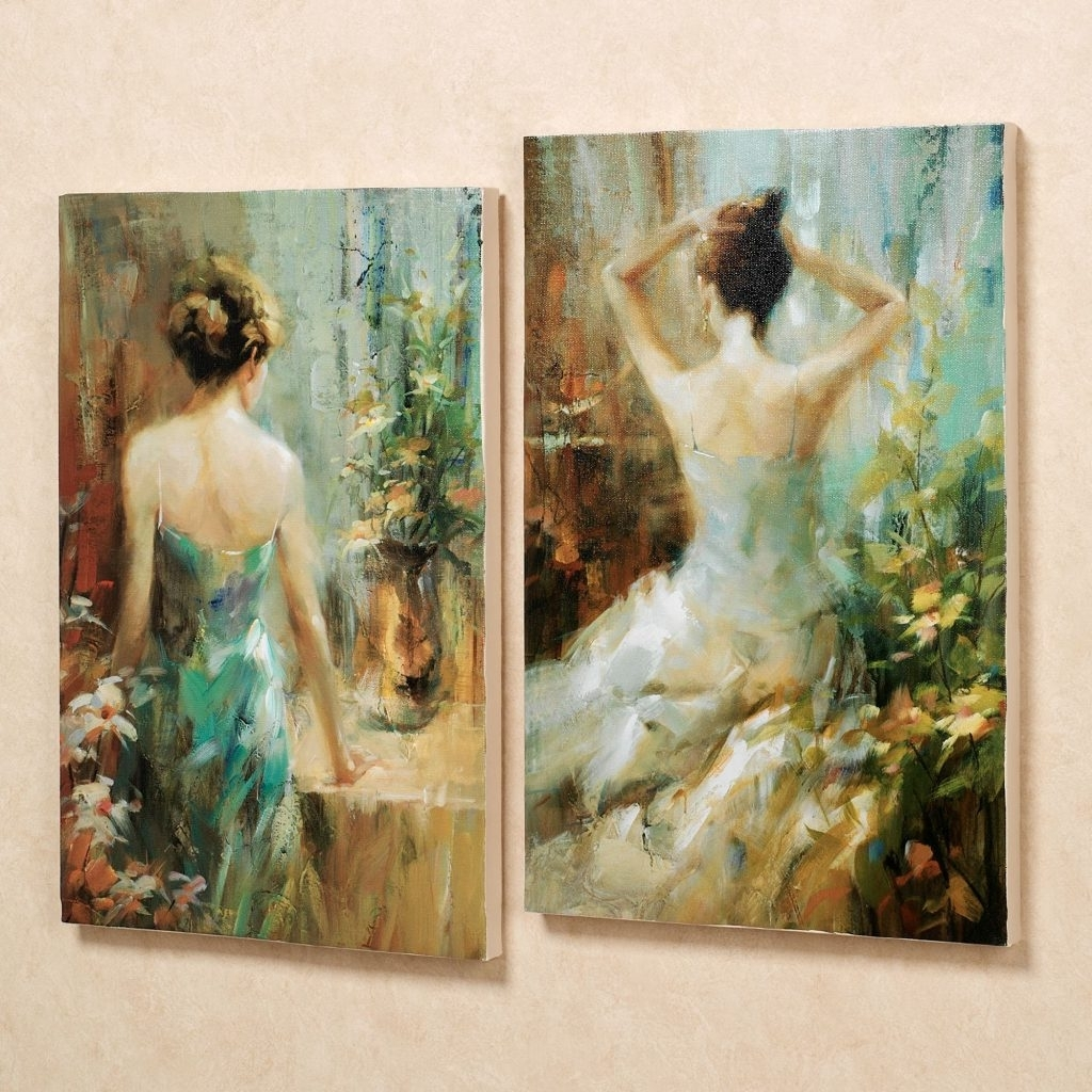 Awe Inspiring Touch Of Class Wall Art Metal Canvas Elegant Ladies Within Well Known Touch Of Class Wall Art (View 2 of 20)