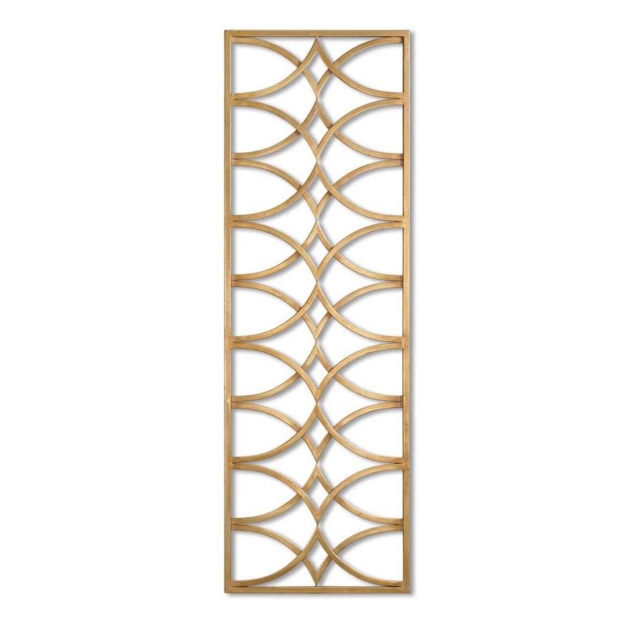 Azalea Metal Wall Art Gold Leaf Rectangular Arches Uttermost 7070 Pertaining To Well Liked Uttermost Wall Art (View 10 of 20)