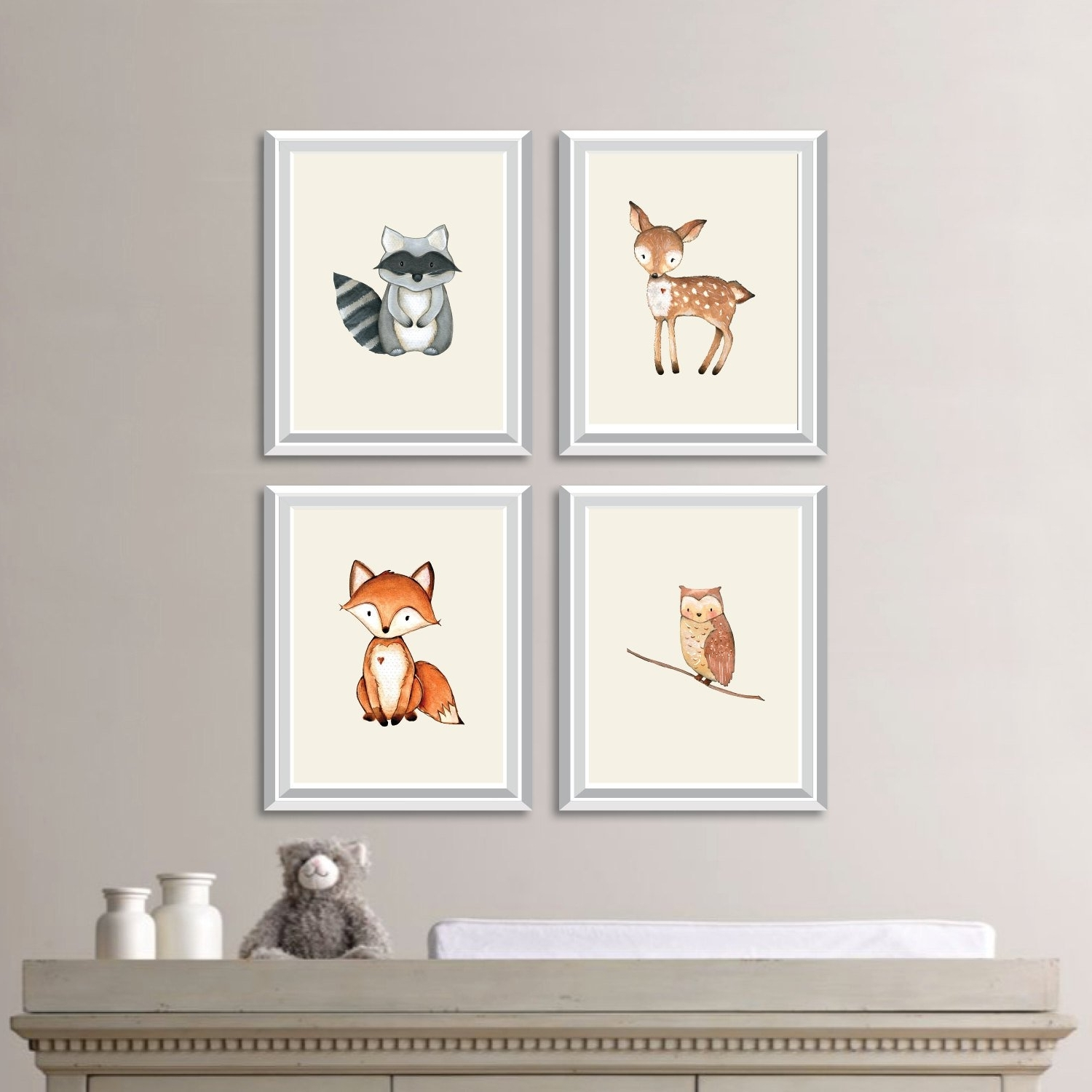 Baby Nursery Art. Woodland Nursery Art. Woodland Nursery Decor With Regard To Most Recently Released Woodland Nursery Wall Art (Gallery 15 of 20)