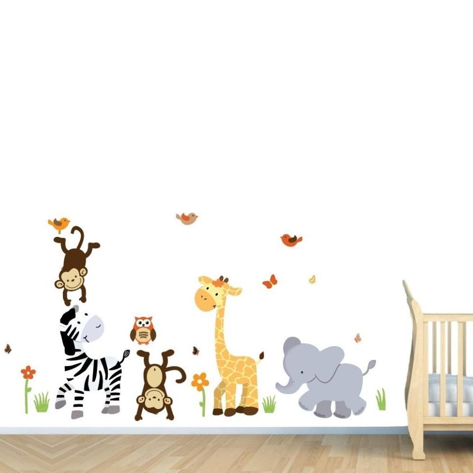 Baby Room Wall Art Girl Bedroom Kids Nursery Boy Elephant Hangings Regarding Most Current Baby Room Wall Art (View 3 of 20)