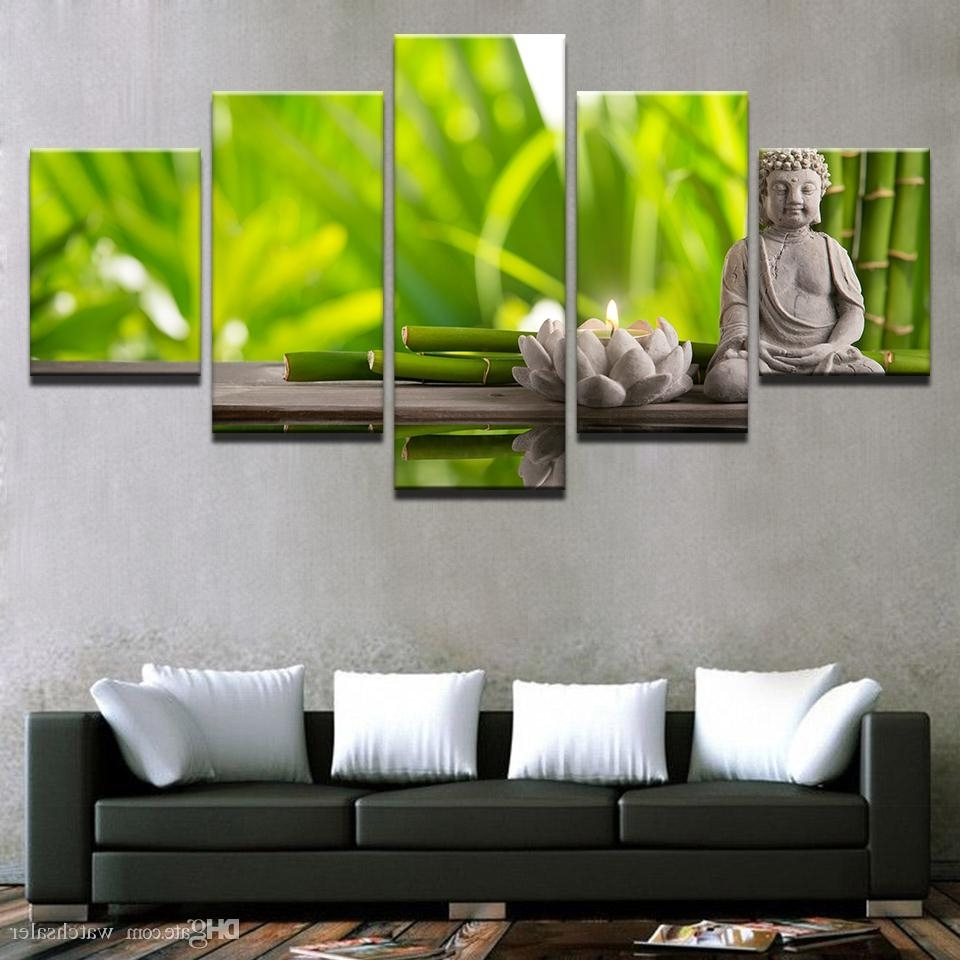Bamboo Wall Art Intended For Most Up To Date Best Canvas Prints Posters Living Room Wall Art Framework Statue Of (View 9 of 20)