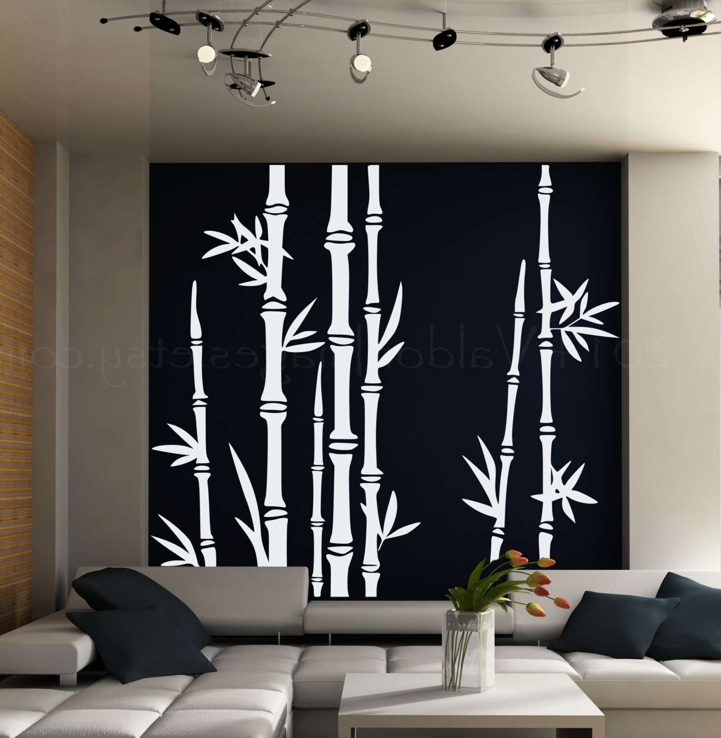 Bamboo Wall Art With Regard To Preferred Bamboo Wall Art New Bamboo Wall Decal Asian Art Wall Stickers Lush (View 11 of 20)
