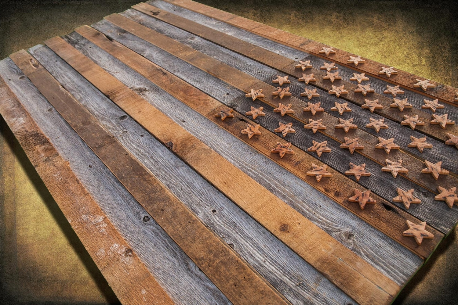 Barnwood American Flag, 100 Year Old Wood, One Of A Kind, 3d, Wooden Inside Most Recently Released Vintage American Flag Wall Art (View 17 of 20)