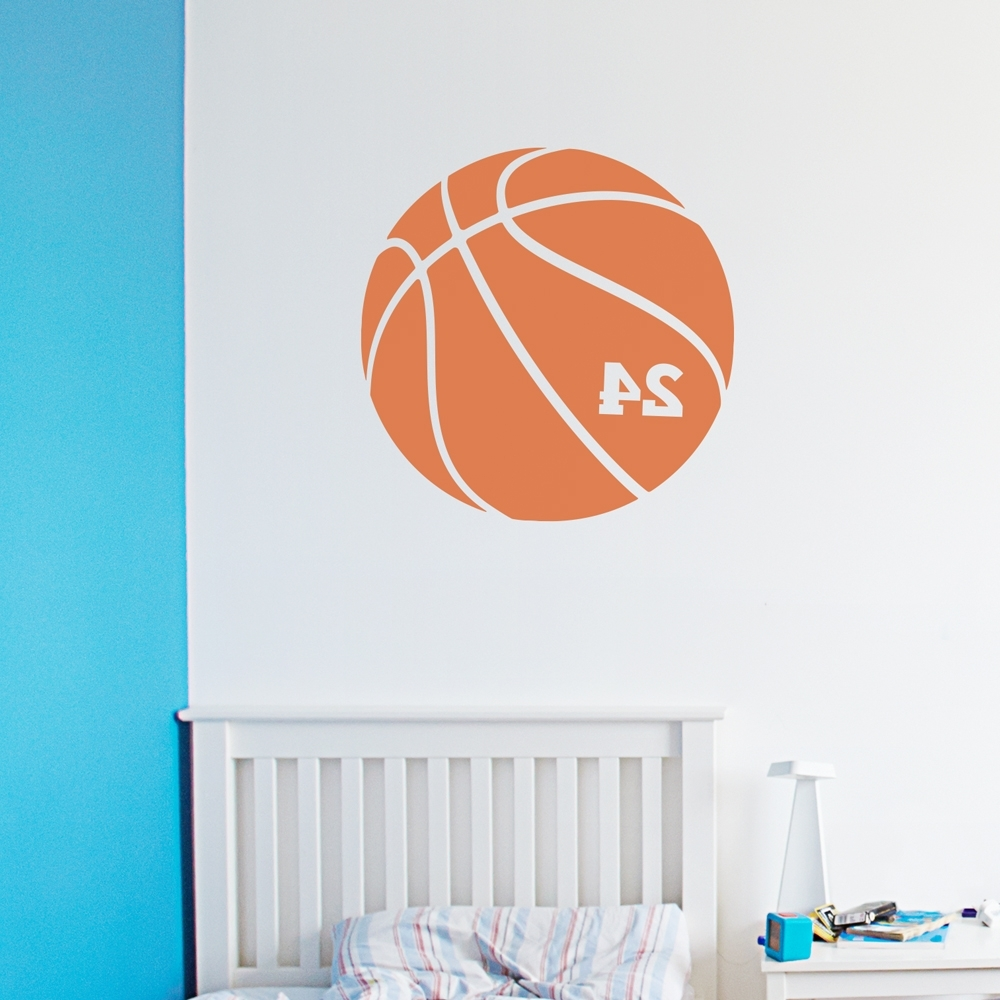 Basketball Wall Art Pertaining To 2018 Basketball Number Wall Art Decal (Gallery 6 of 15)