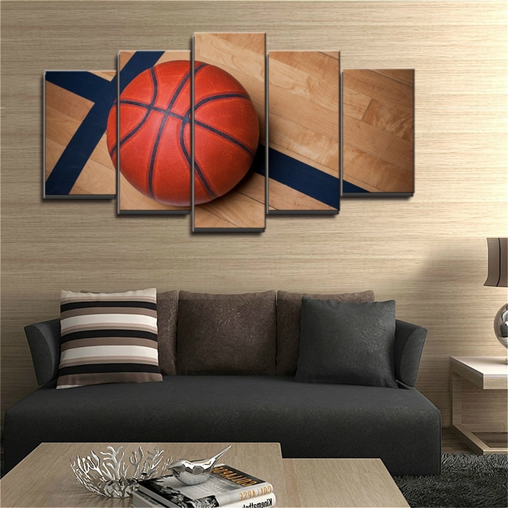 Basketball Wall Art Within Best And Newest Art Boys Bedroom Canvas Wall Basketball Sports Decor Kids Room Our (Gallery 12 of 15)
