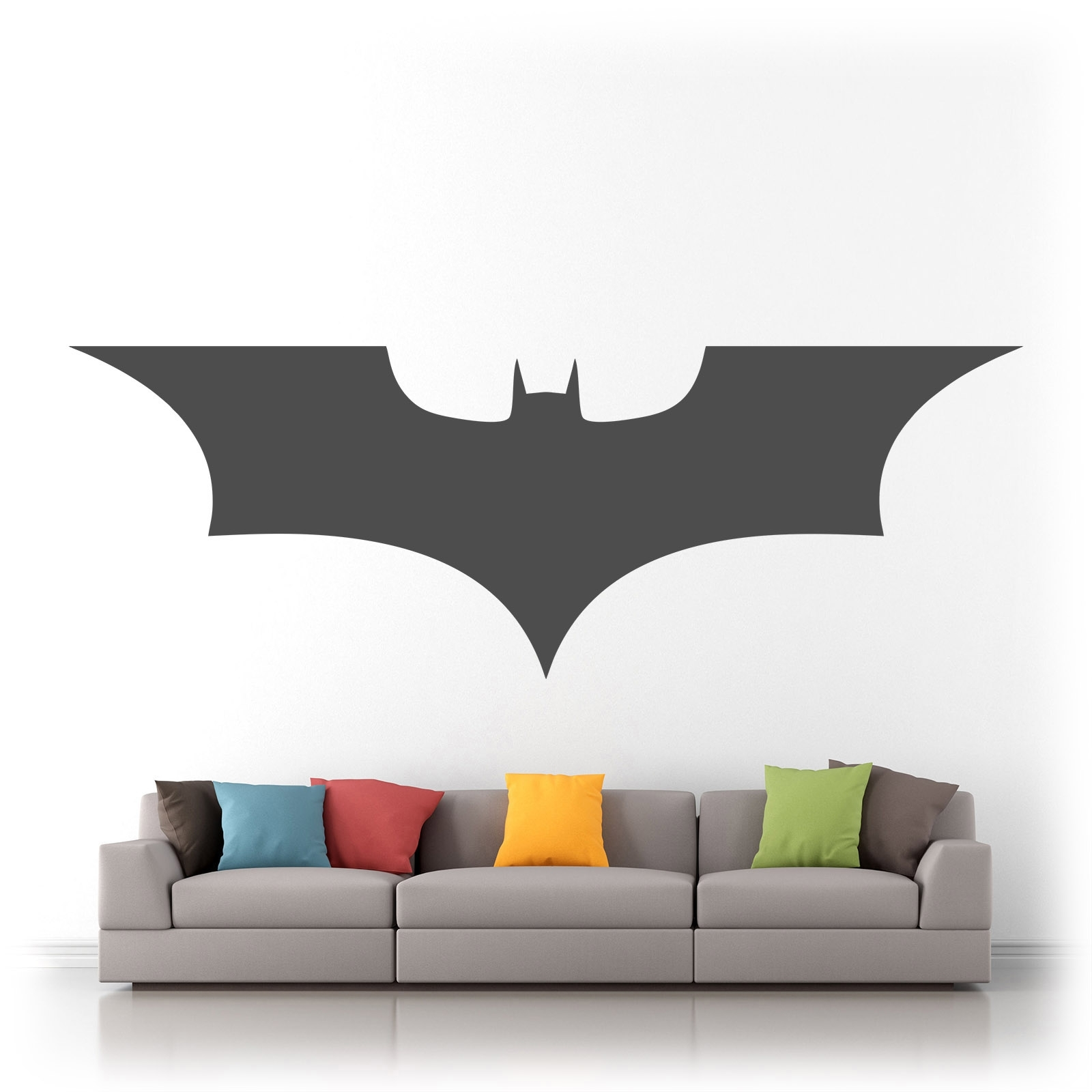Batman Wall Art Within Most Popular Batman Logo Superhero Vinyl Wall Art Sticker Decal Silhouette Matt (Gallery 9 of 20)