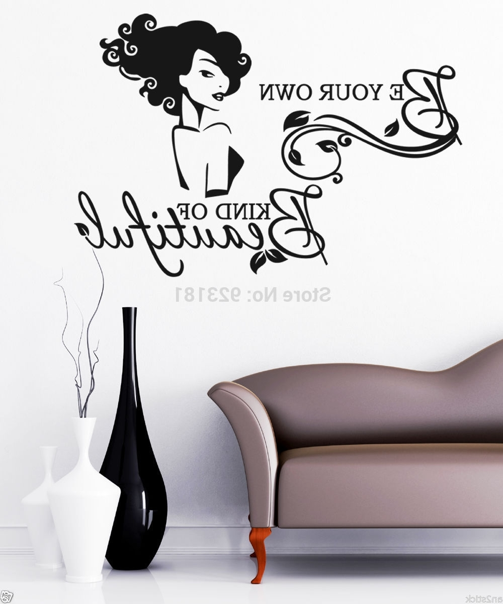 Be Your Own Kind Of Beautiful Wall Sticker Image Collections – Home For Well Known Be Your Own Kind Of Beautiful Wall Art (View 6 of 15)