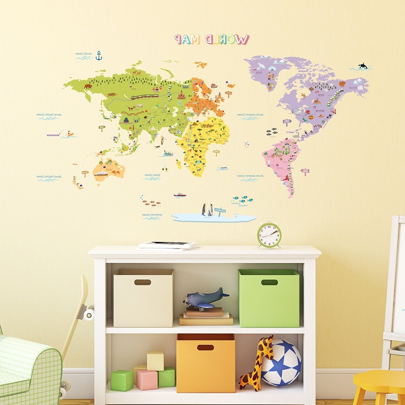 Beautiful Next Wall Art Stickers Ideas The Decorations World Map Within Popular Wall Art Stickers World Map (View 18 of 20)