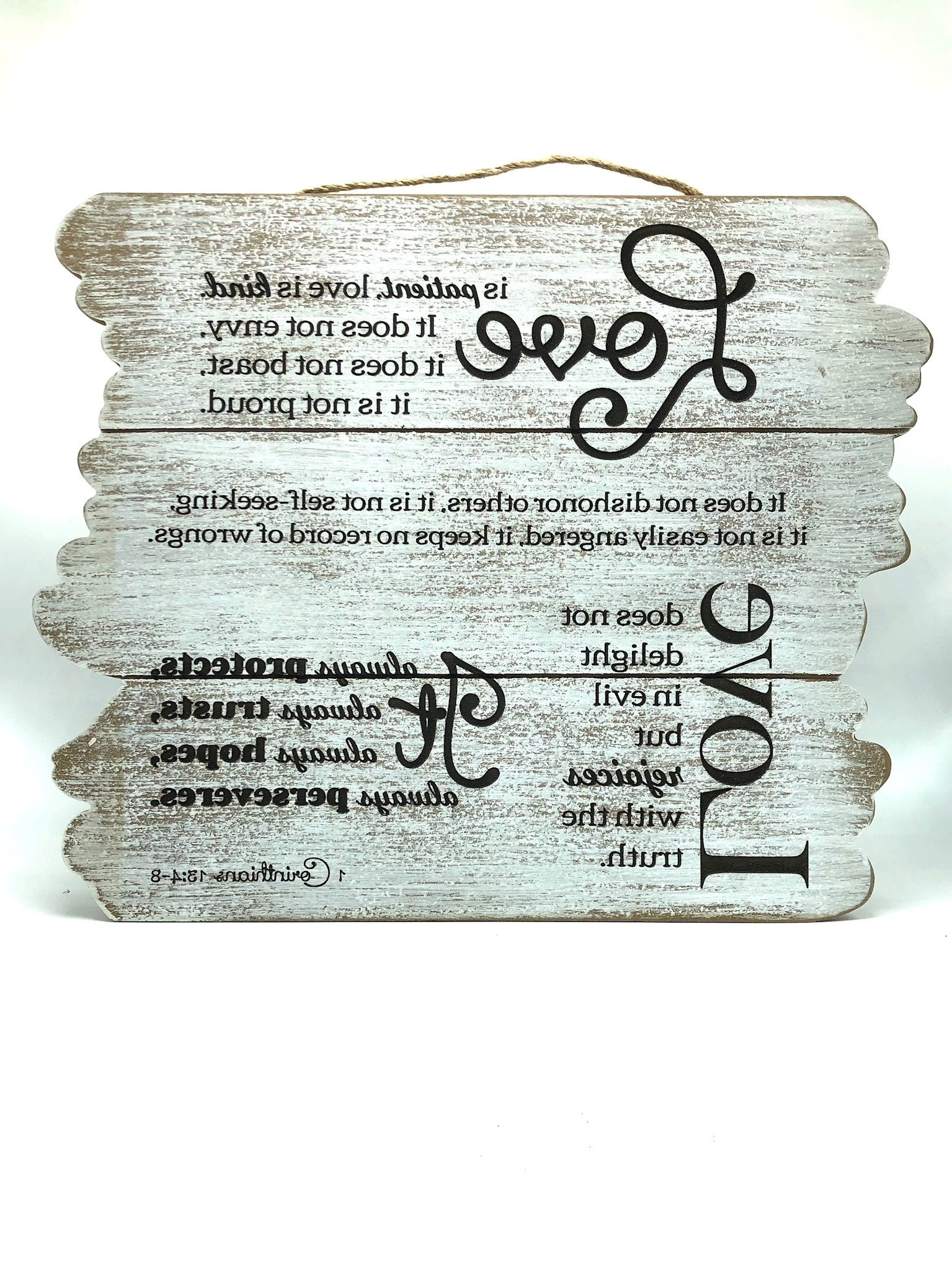 Beautiful Wall Art – Love Is Patient (wooden Planks) (View 9 of 20)