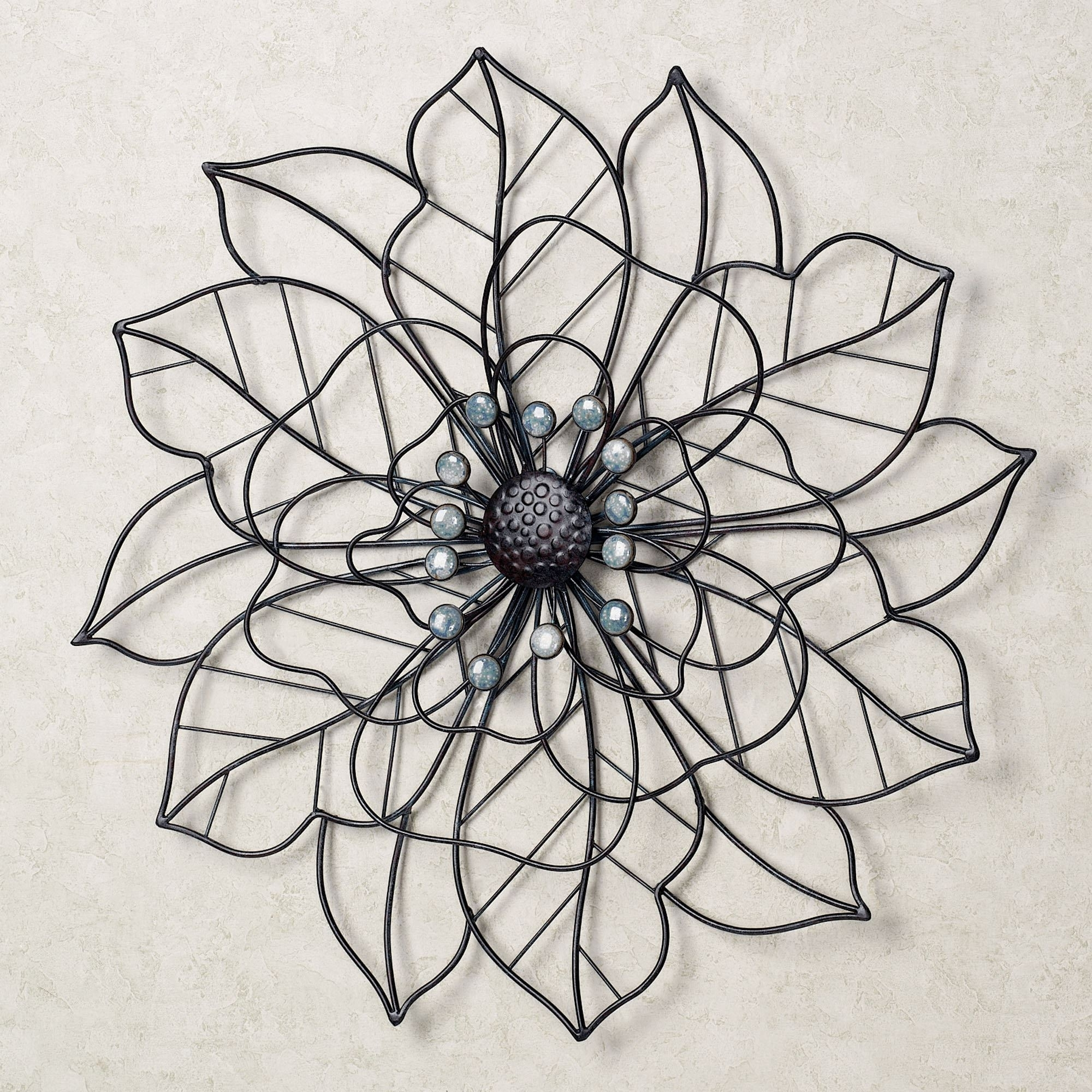 Beauty In Bloom Flower Blossom Metal Wall Art With Regard To Newest Metal Flower Wall Art (View 1 of 15)