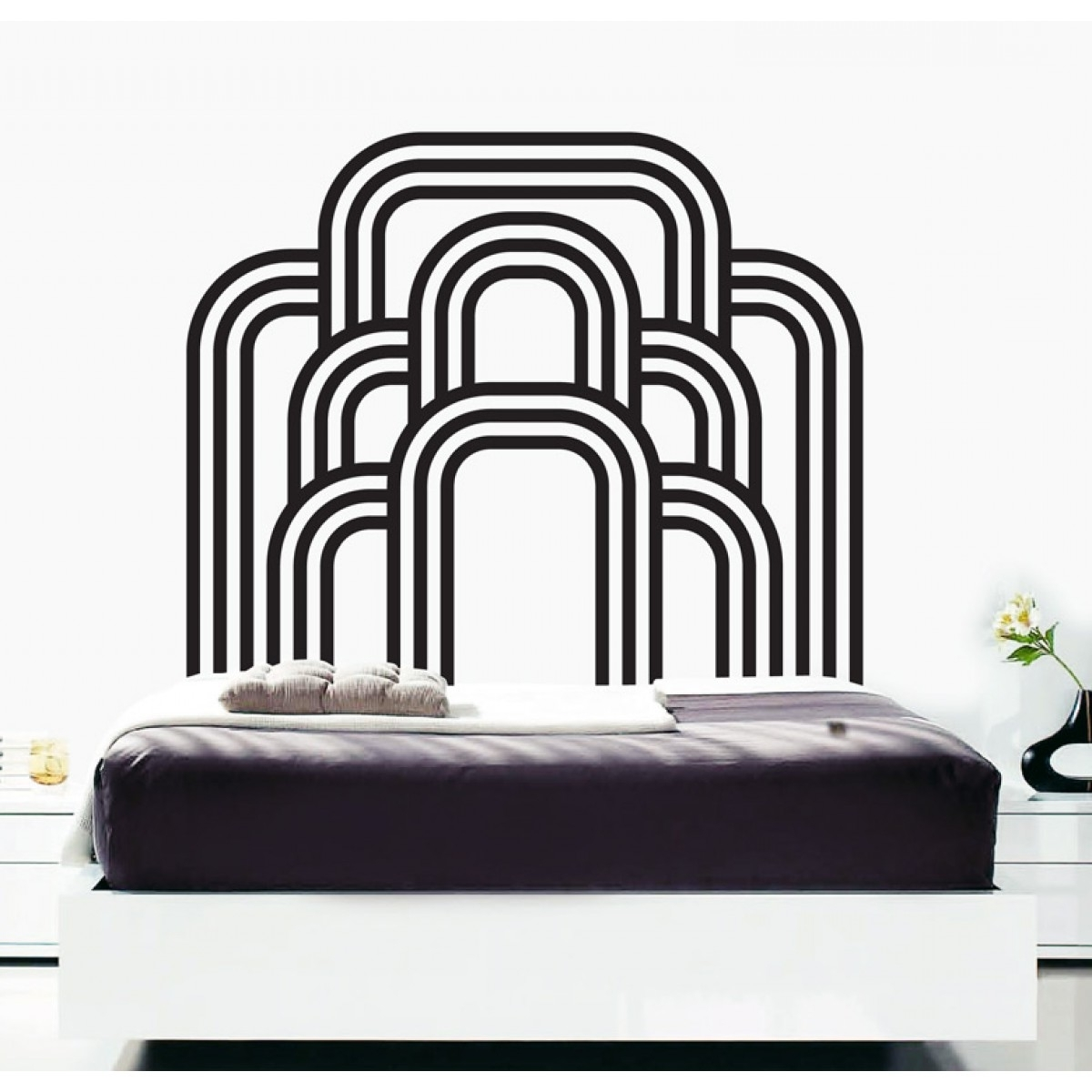 Bedroom Art Deco Wall Stickers With Art Deco Wall Art (View 6 of 20)
