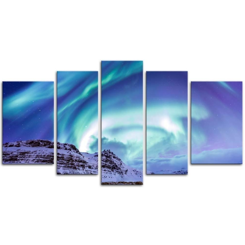 Best And Newest 5 Piece Wall Art In Amazon: 5 Pieces Modern Canvas Painting Wall Art The Picture For (View 9 of 20)
