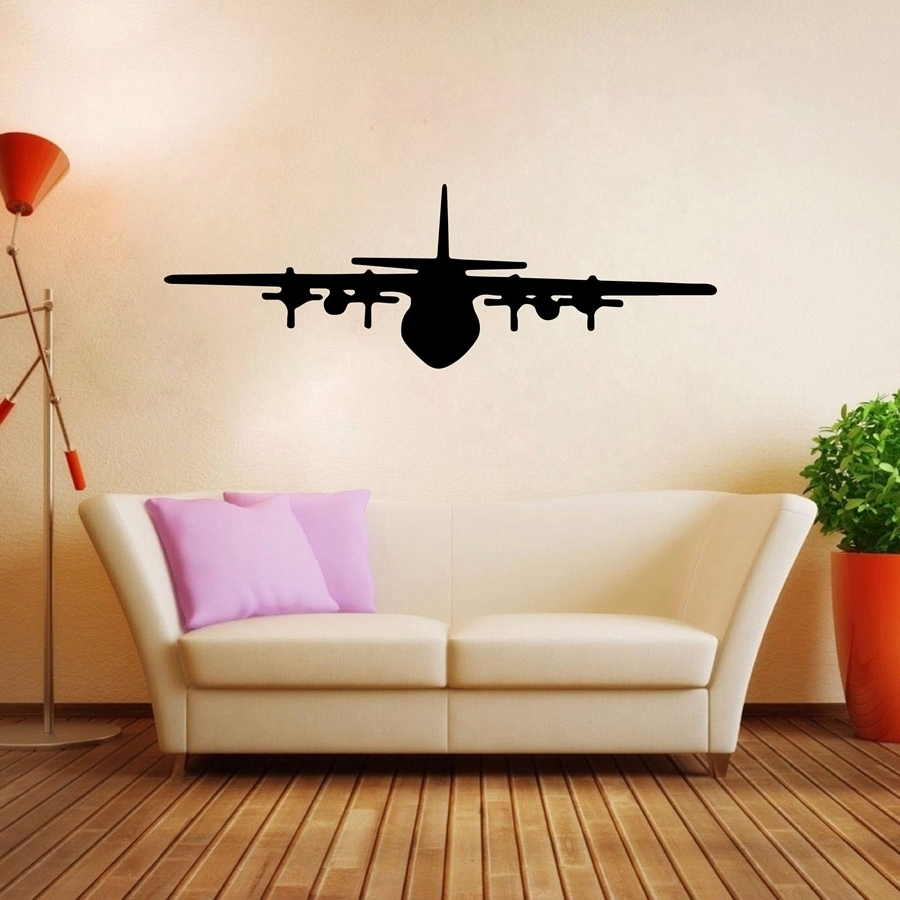 Best And Newest Airplane Wall Art Decals Vinyl Wall Sticker Aircraft Design For For Airplane Wall Art (Gallery 11 of 20)