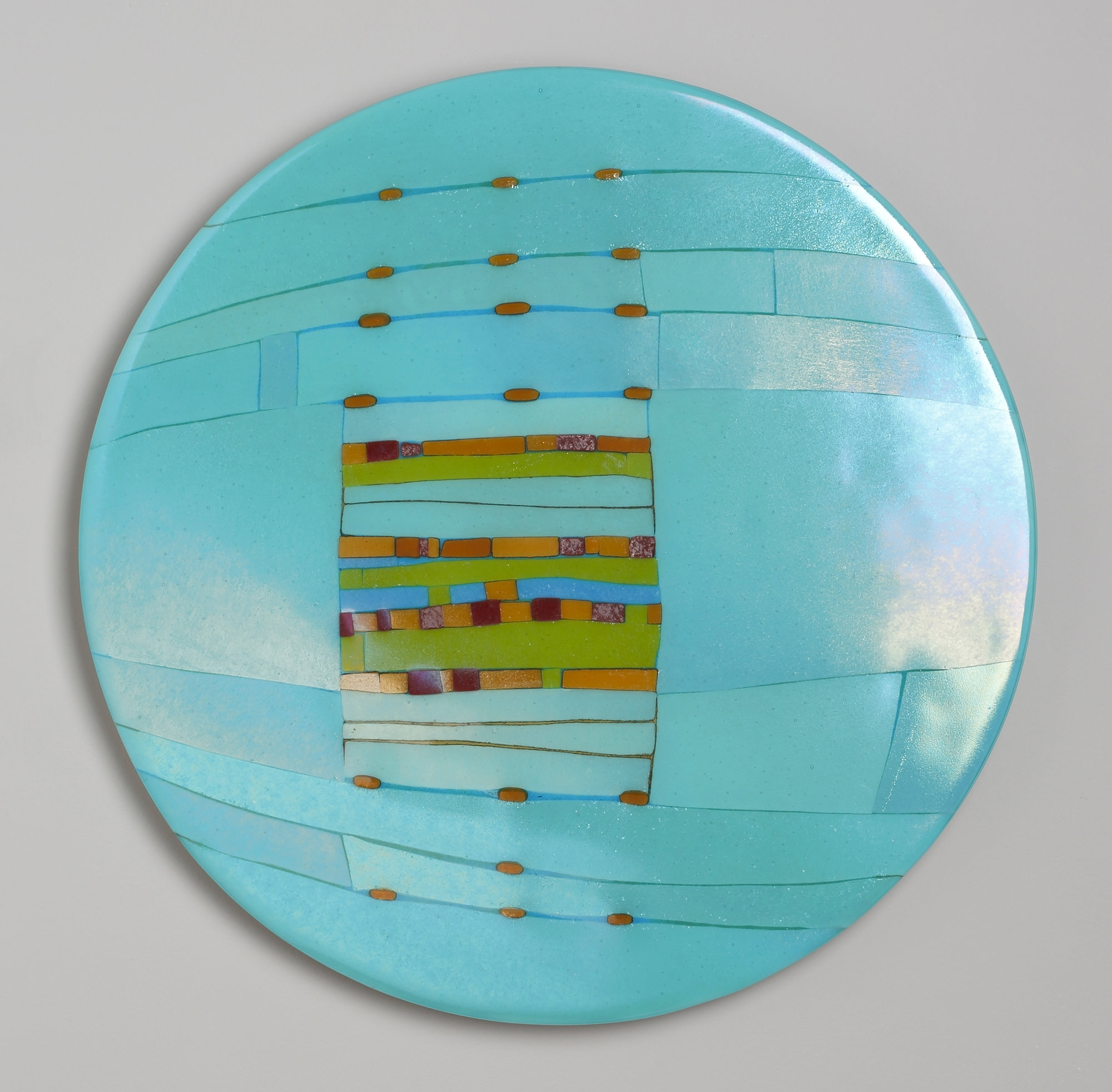 Best And Newest Aqua Window Roundlynn Latimer (Art Glass Wall Sculpture Within Glass Plate Wall Art (Gallery 18 of 20)