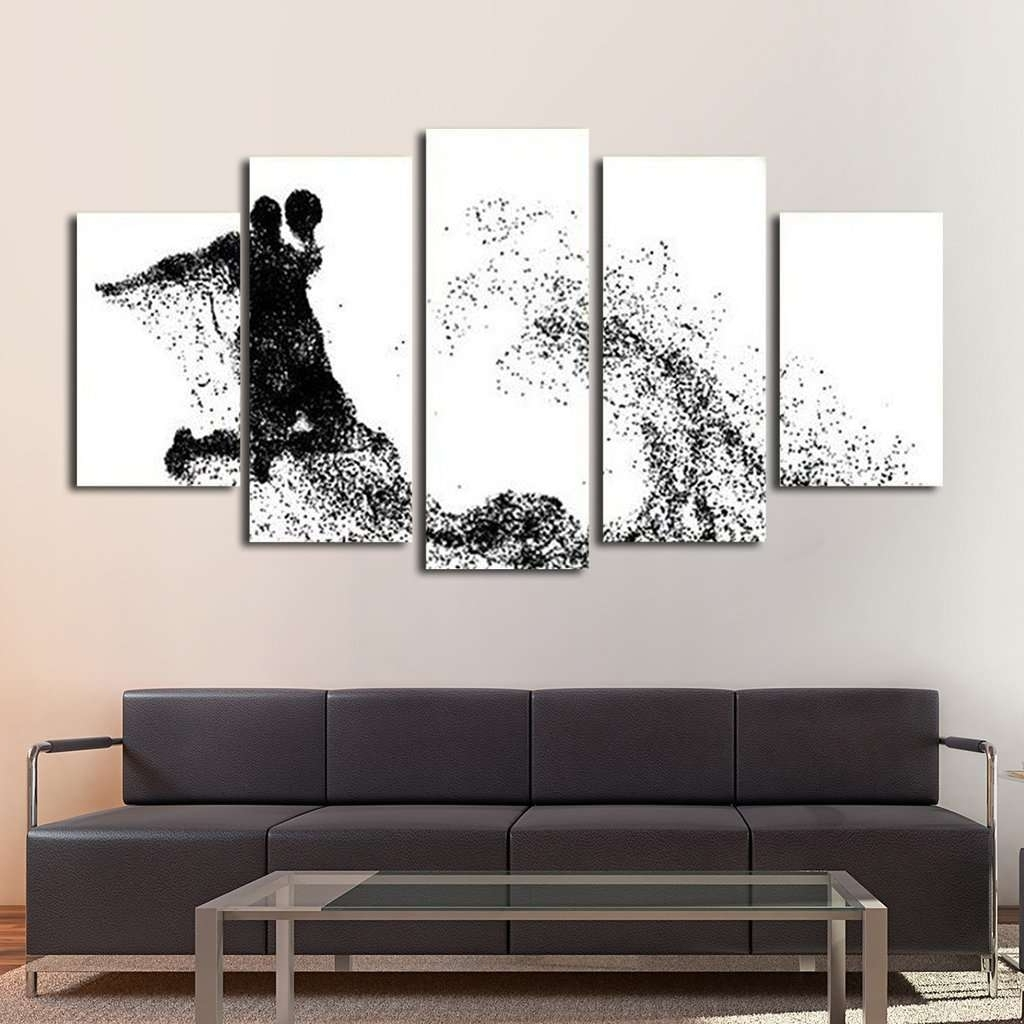 Best And Newest Basketball Wall Art Intended For Basketball Wall Art Multi Panel Canvas – Mighty Paintings (View 7 of 15)