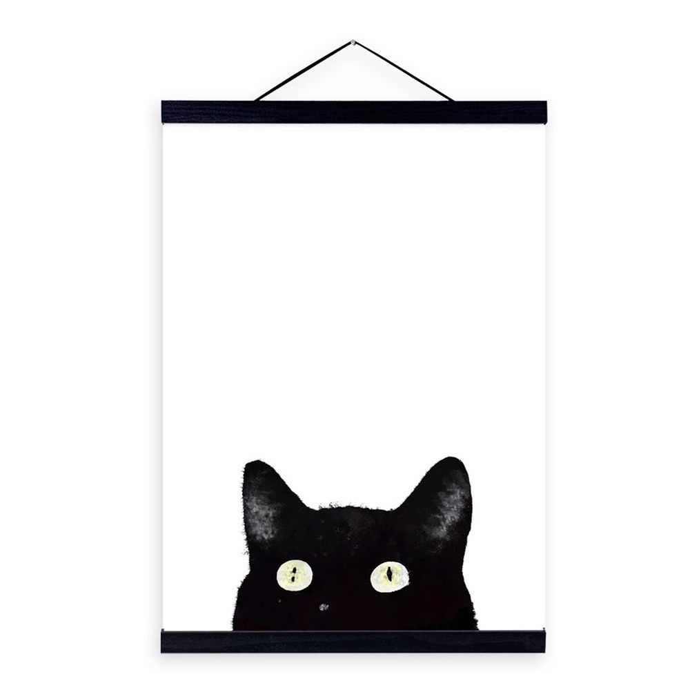Best And Newest Cat Canvas Wall Art With Ik  3Pcs Modern Black Cat Canvas Wall Painting Poster Art Home Decor (View 1 of 20)