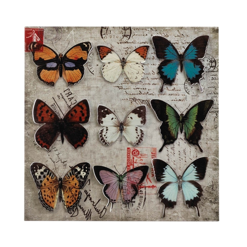 Best And Newest Collage Butterfly Tin Wall Art – Upc 849179026790 Intended For Tin Wall Art (View 11 of 20)