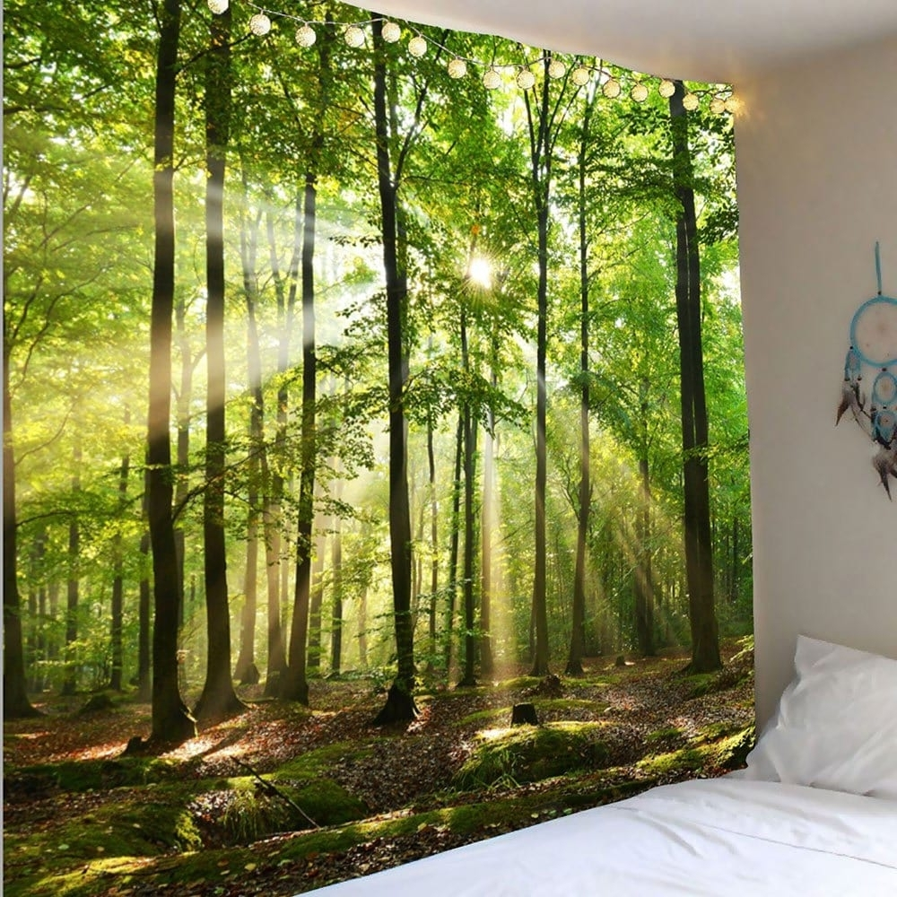 Best And Newest Decorative Wall Art Throughout Green W91 Inch * L71 Inch Forest Sunlight Decorative Wall Art (View 1 of 20)