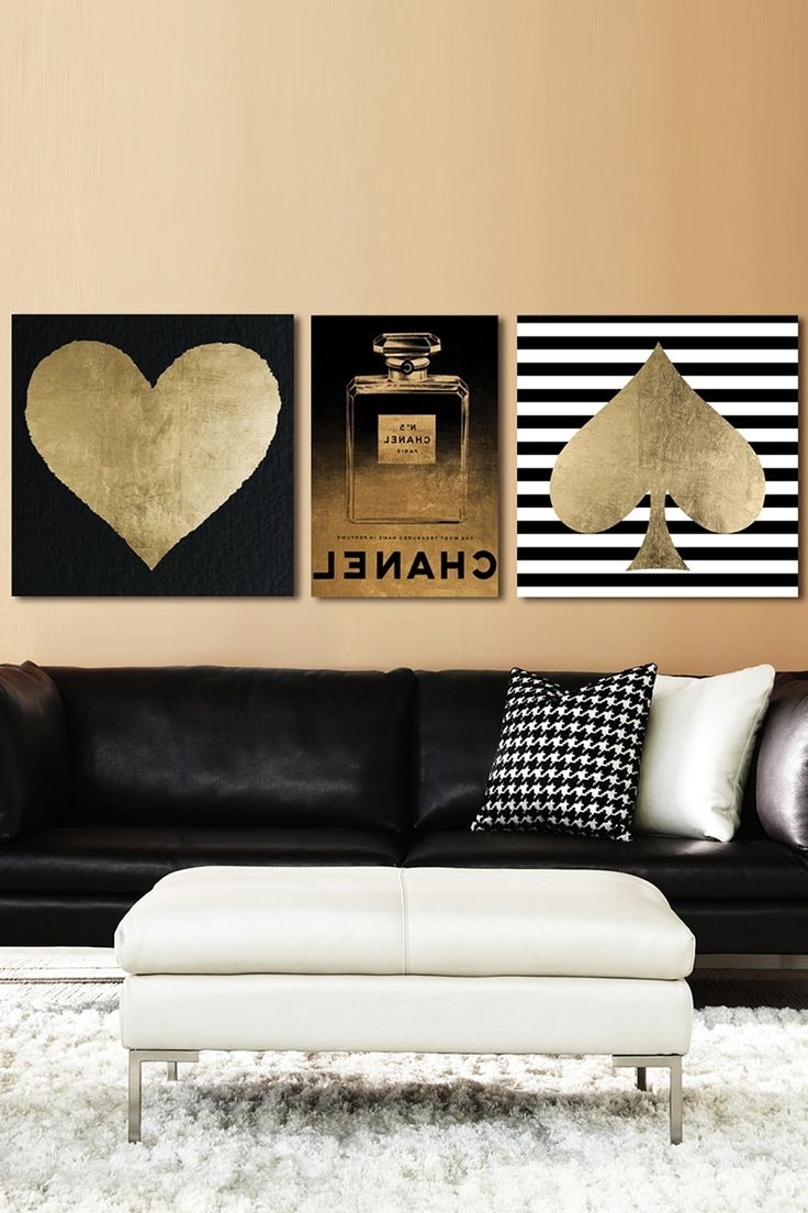 Best And Newest Enchanting 25 Black And Gold Wall Art Decorating Design, Gold Wall Intended For Black And Gold Wall Art (Gallery 9 of 20)
