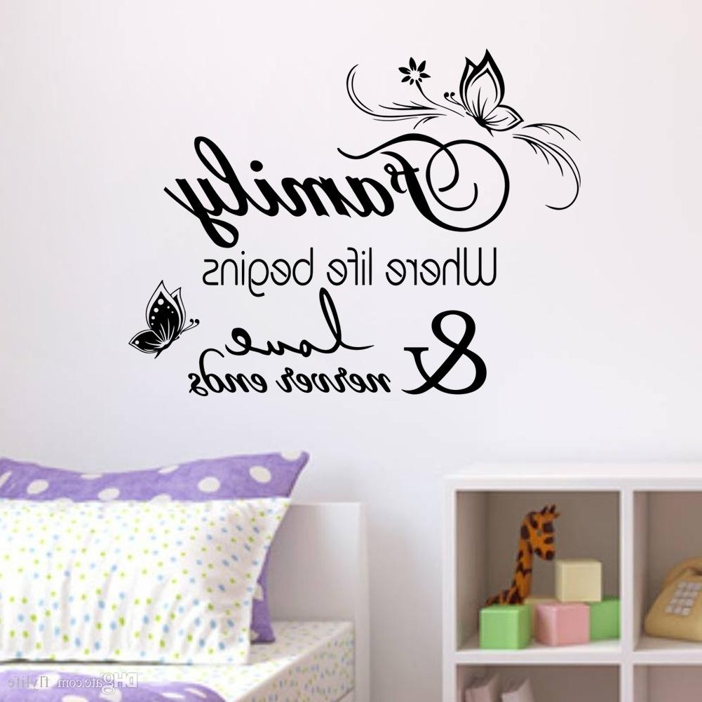 Best And Newest Family Vinyl Wall Quote Decal Stickers For Home Decor Wall Decal For For Vinyl Wall Art (Gallery 5 of 15)