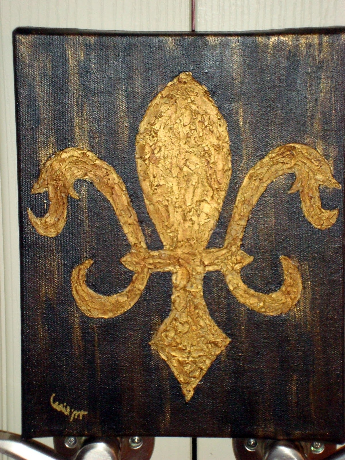 Best And Newest Fleur De Lis Wall Art Intended For Fleur De Lis Wall Art Painting : Andrews Living Arts – Make Fleur De (View 10 of 20)
