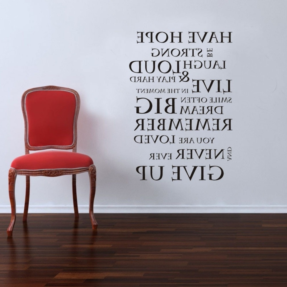 Best And Newest Inspirational Quote Wall Stickers Family Lettering Wall Decals For Inspirational Quotes Wall Art (View 2 of 20)