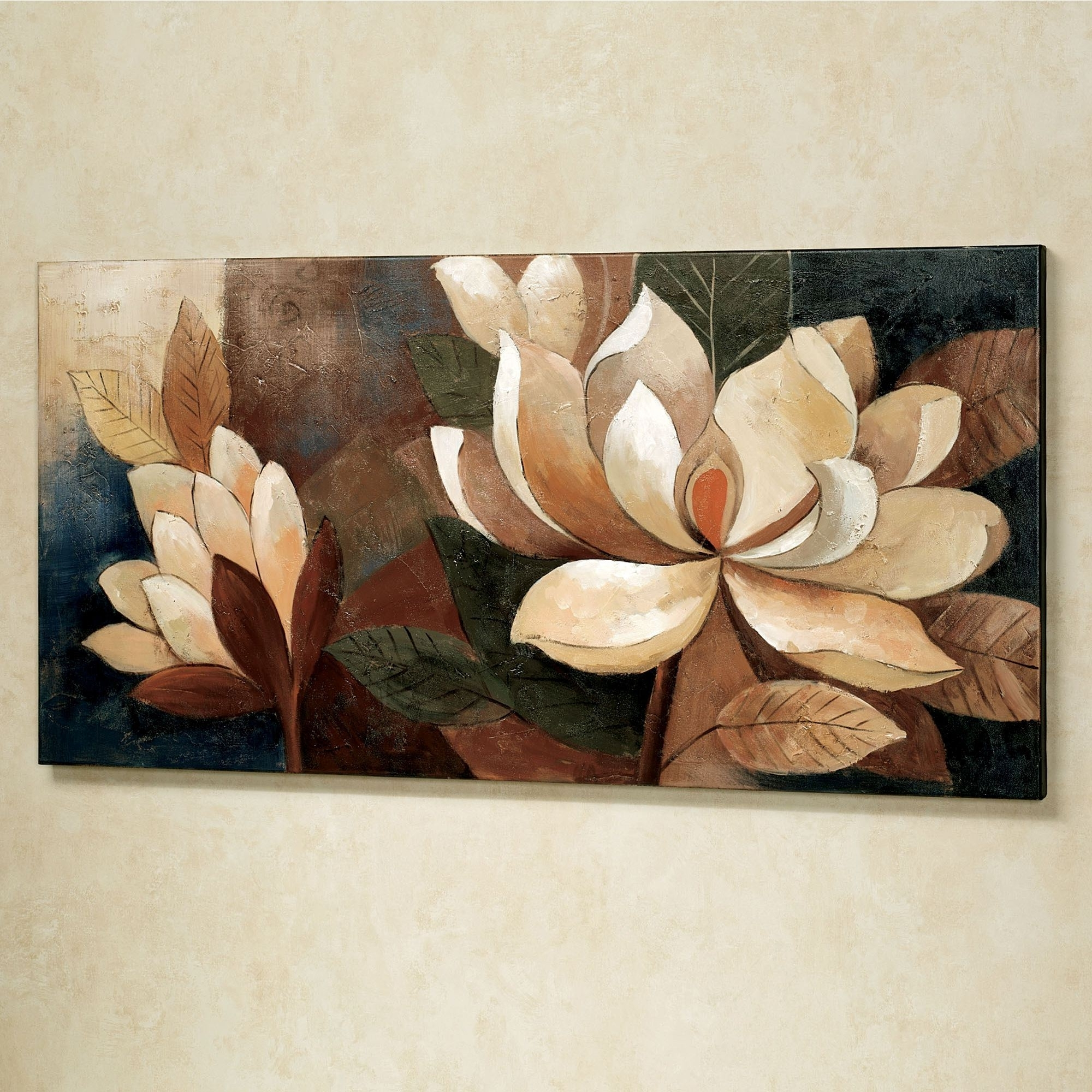 Best And Newest Magnolia Glow Floral Canvas Wall Art Throughout Flower Wall Art (Gallery 10 of 20)