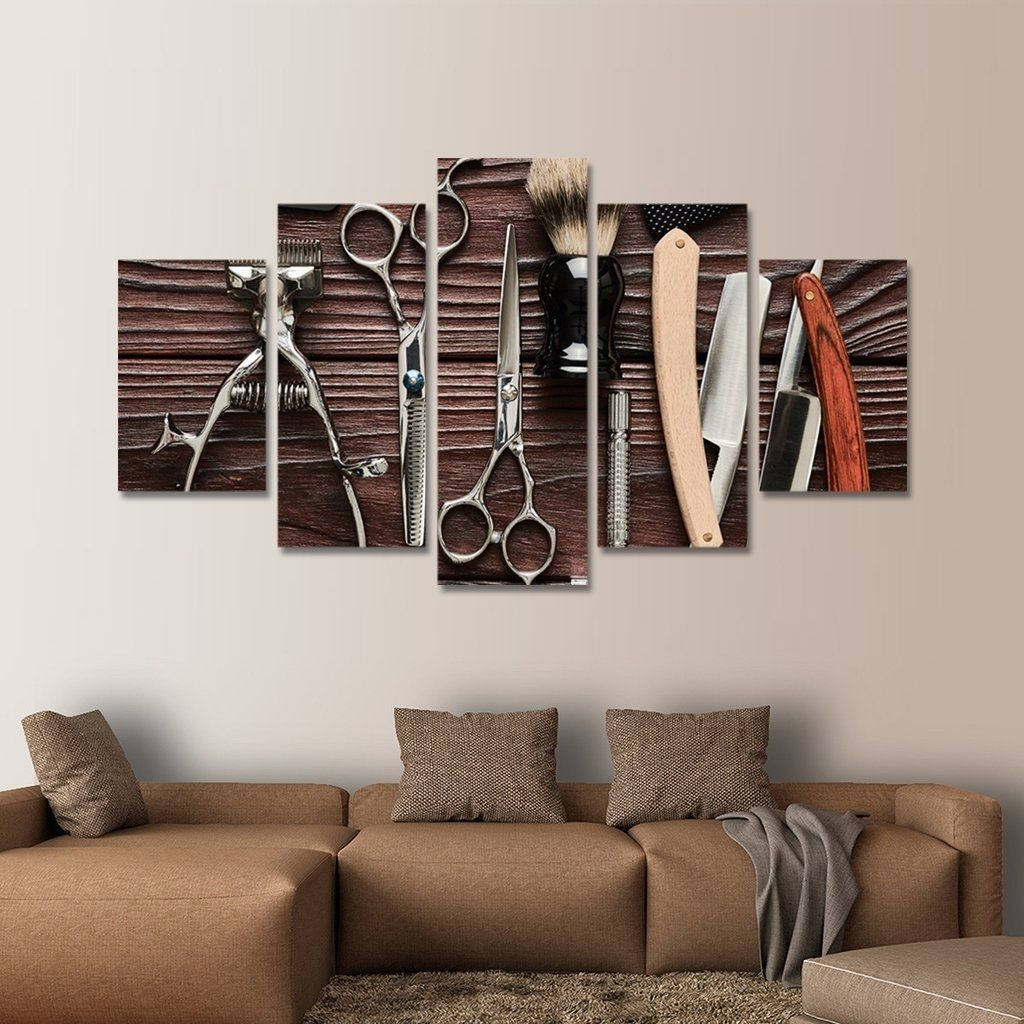 Best And Newest Multi Panel Wall Art With Lifestyle Barbershop Multi Panel Canvas Wall Art (View 8 of 15)