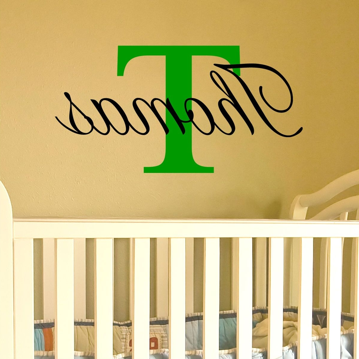 Best And Newest Name Wall Art With Capital Letter (available For A Boy Or Girl) Regarding Name Wall Art (View 8 of 20)