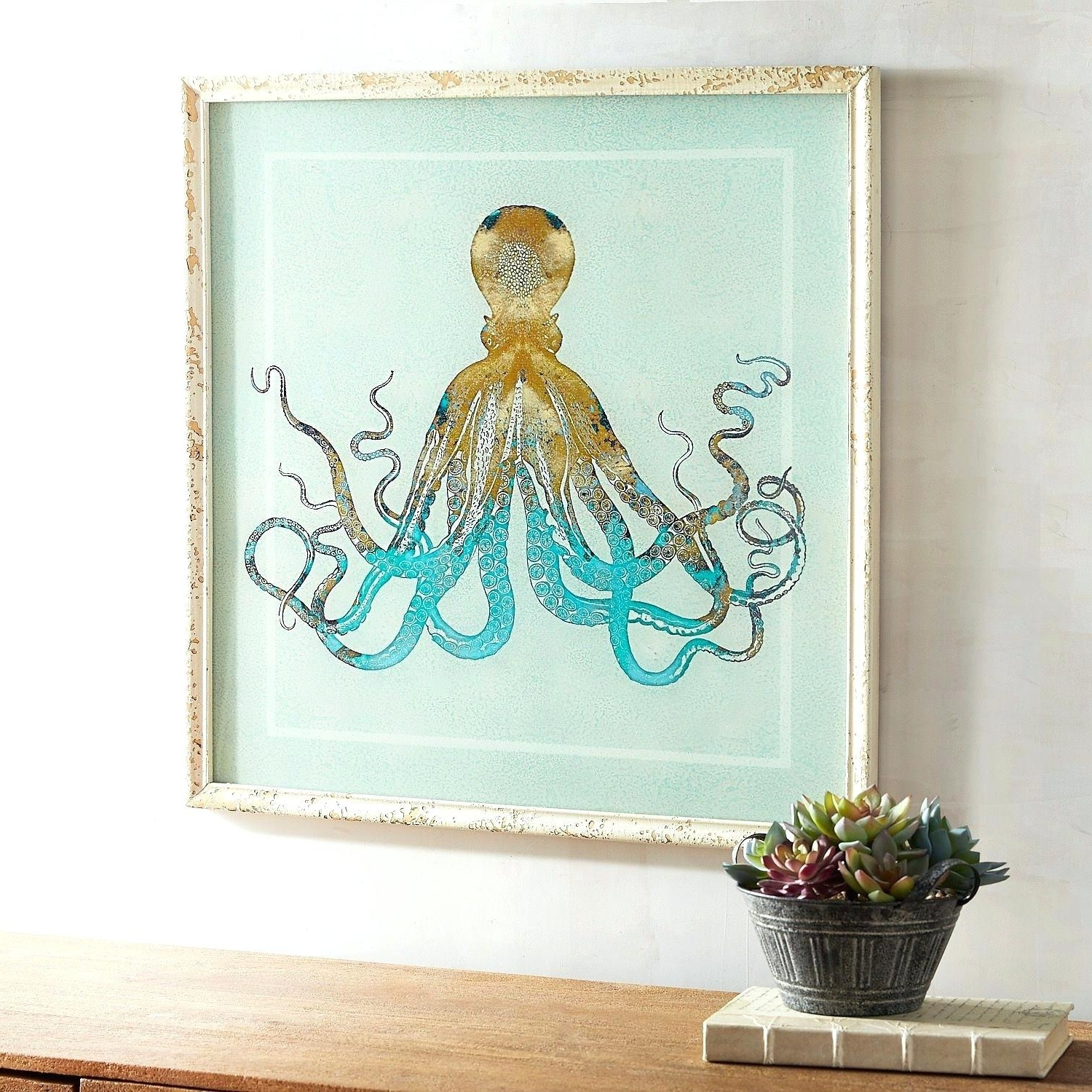 Best And Newest Octopus Wall Art Bathroom Blue Splash Octopus Wall Art Octopus Art Inside Octopus Wall Art (View 2 of 20)