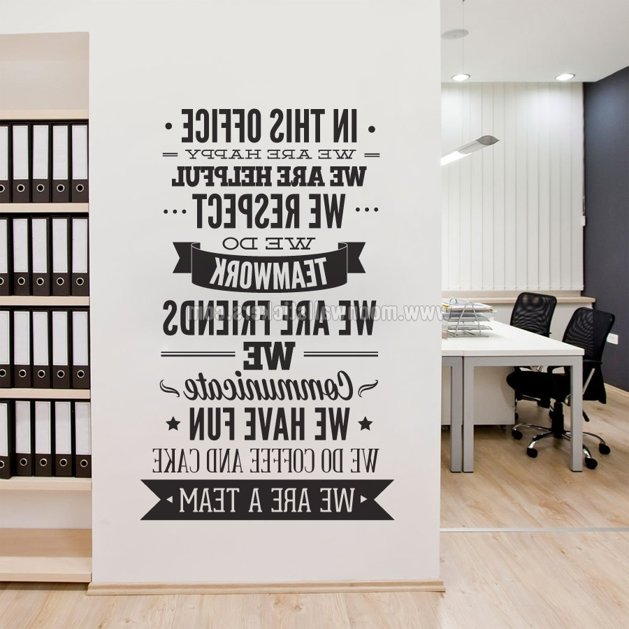 Best And Newest Office Wall Art With In This Office Typography Sticker – Moonwallstickers (View 1 of 15)