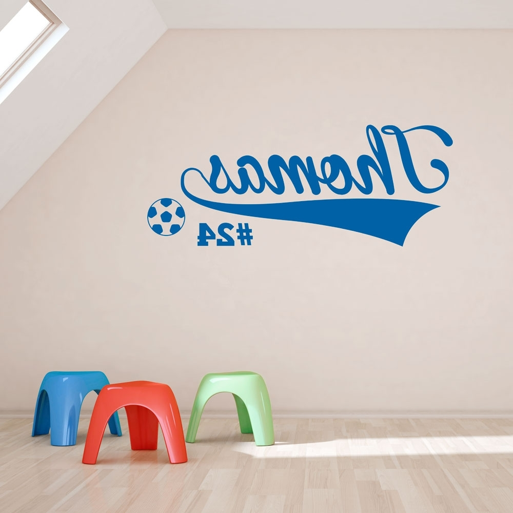 Best And Newest Soccer Wall Art Pertaining To Soccer Player Wall Art Decal (View 11 of 20)