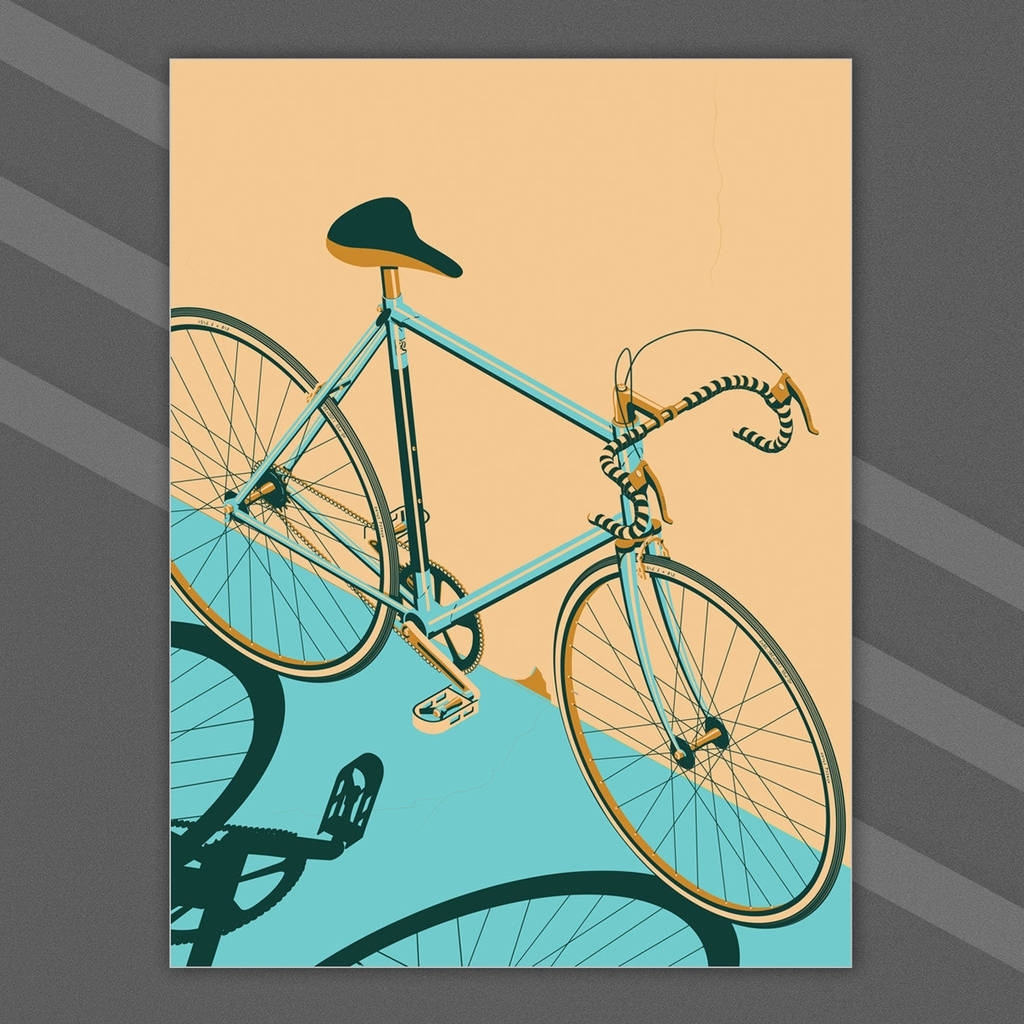 Bicycle, Bike, Bikes, Cycle Poster Wall Art Printwyatt9 Pertaining To Current Bicycle Wall Art (Gallery 11 of 20)