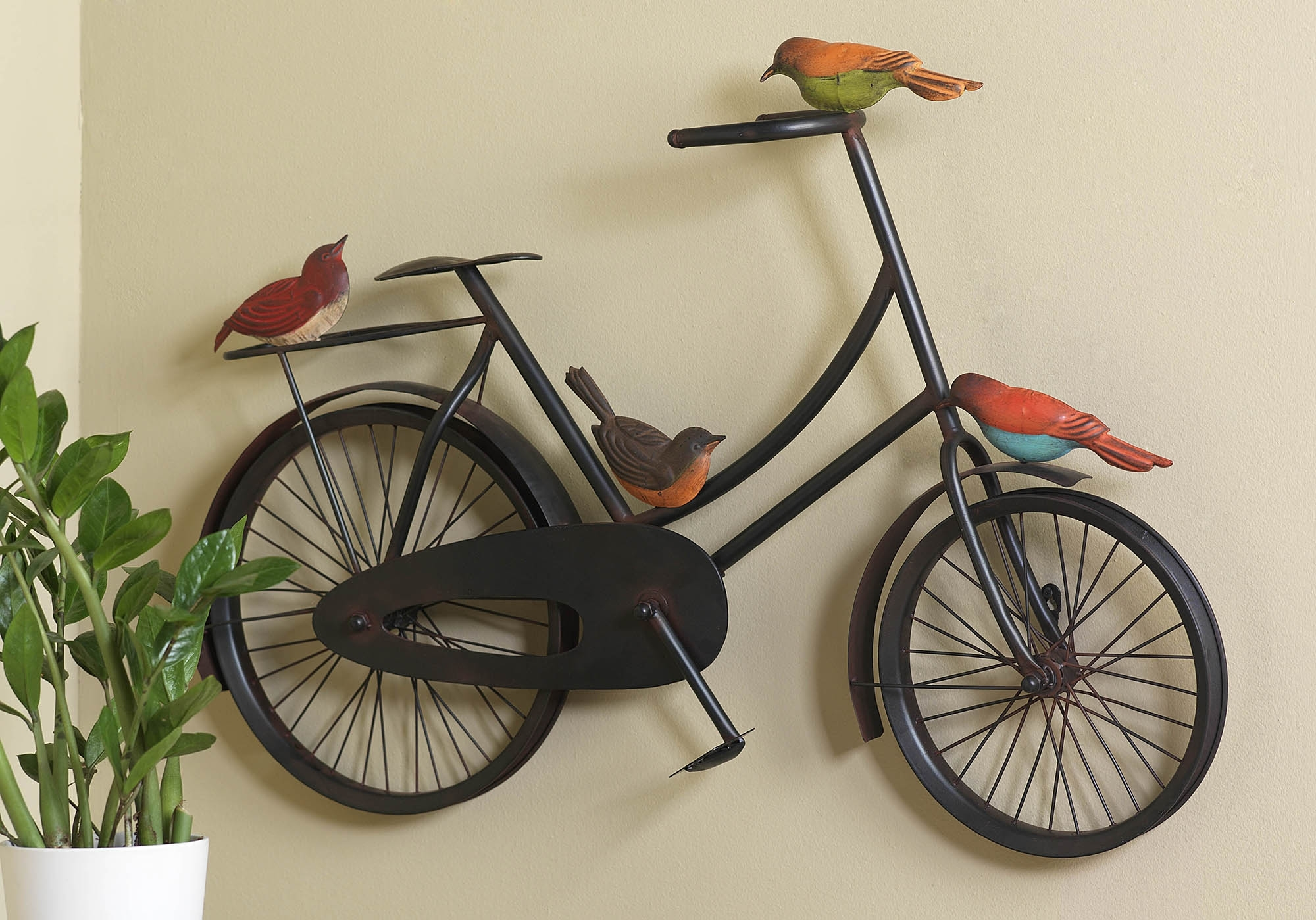 Bicycle Wall Art Pertaining To Widely Used 37 Bicycle Wall Art, Iron Bicycle Wall Art Black Wood Frame Fathers (View 6 of 20)