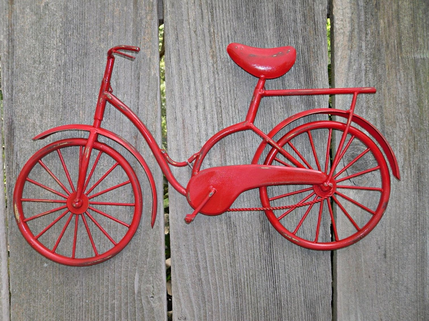 Bicycle Wall Art / Red Wall Decor / Metal Bicycle / Metal Wall Decor Pertaining To Recent Bicycle Wall Art (View 4 of 20)