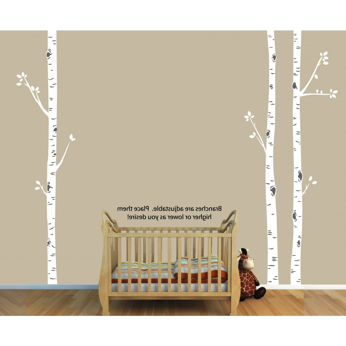 Birch Tree Wall Art In Famous Birch Tree Wall Art And Birch Tree Decals For Nursery For Girls (View 3 of 20)
