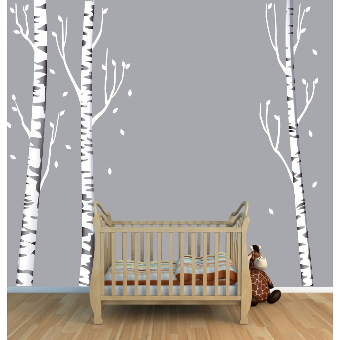 Birch Tree Wall Art Intended For Recent Tree Wall Art With Birch Tree Wall Decals For Kids Rooms (View 4 of 20)