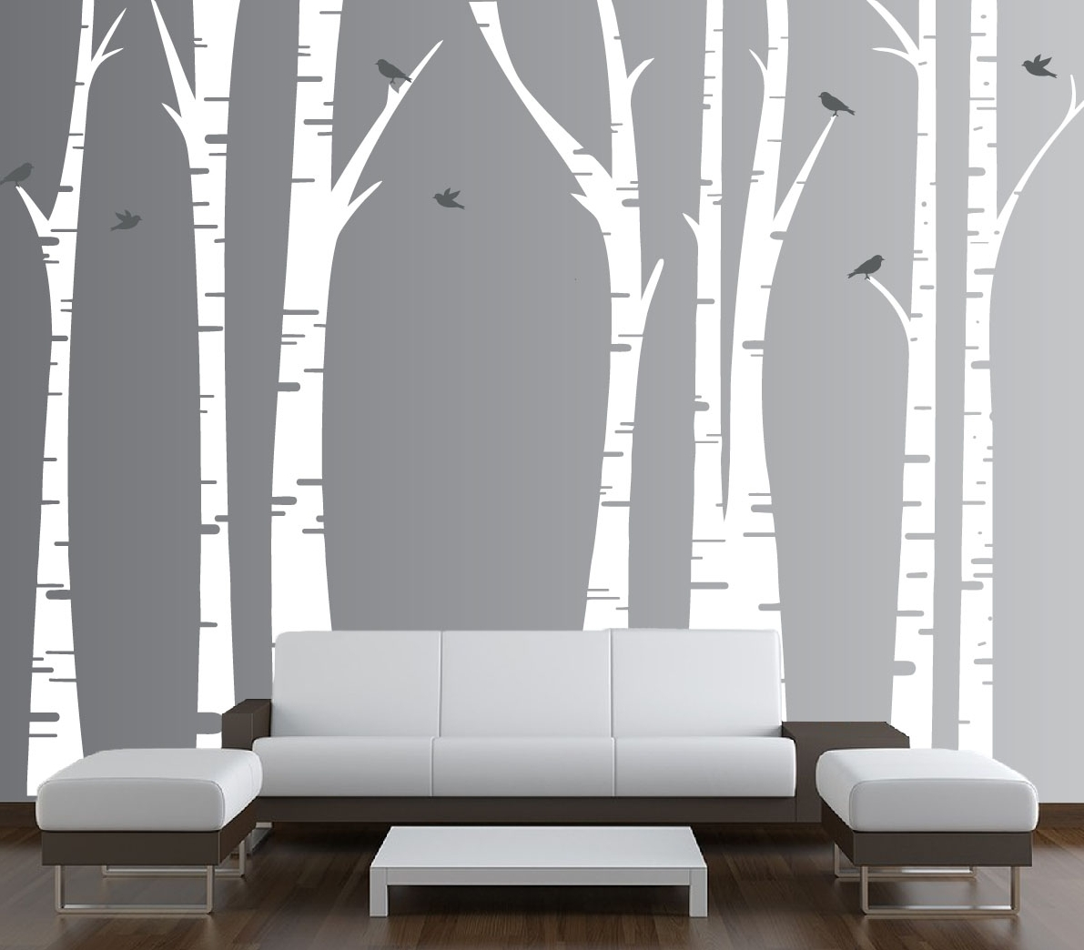 Birch Tree Wall Art Pertaining To Well Known Forest Birch Tree Wall Art : Andrews Living Arts – Look Fresh And (View 9 of 20)