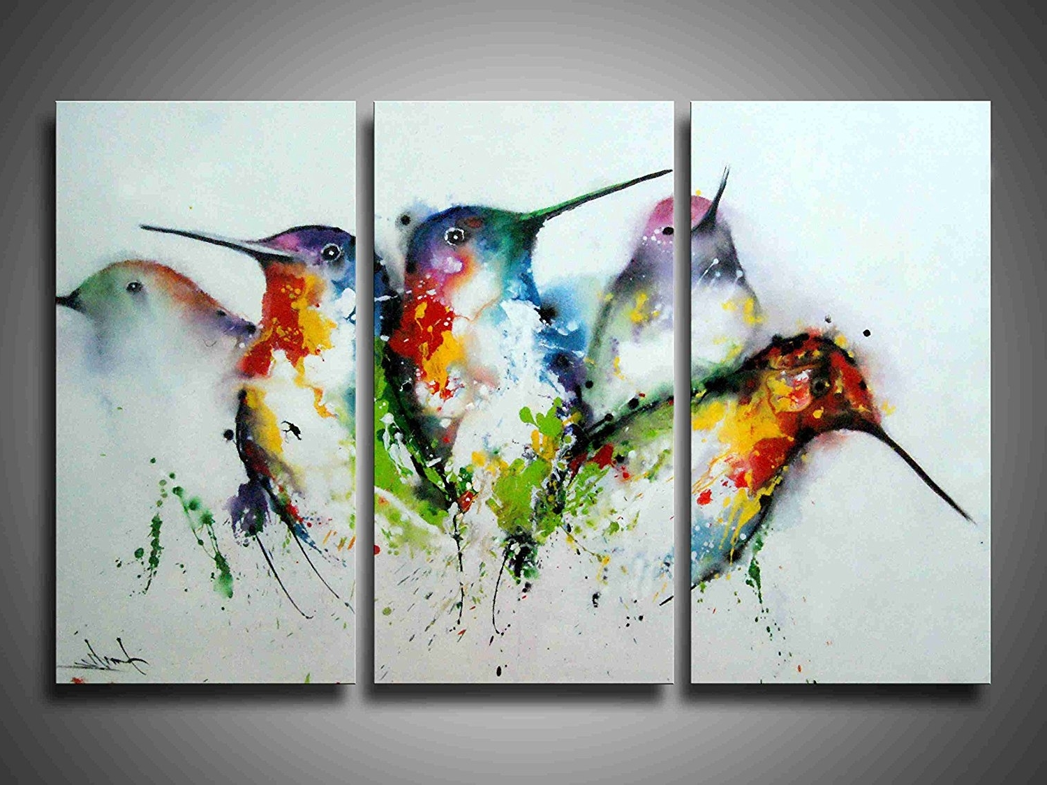 Bird Framed Canvas Wall Art With Regard To Popular 3 Piece Framed Wall Art Bird : Andrews Living Arts – Affordable (View 2 of 20)