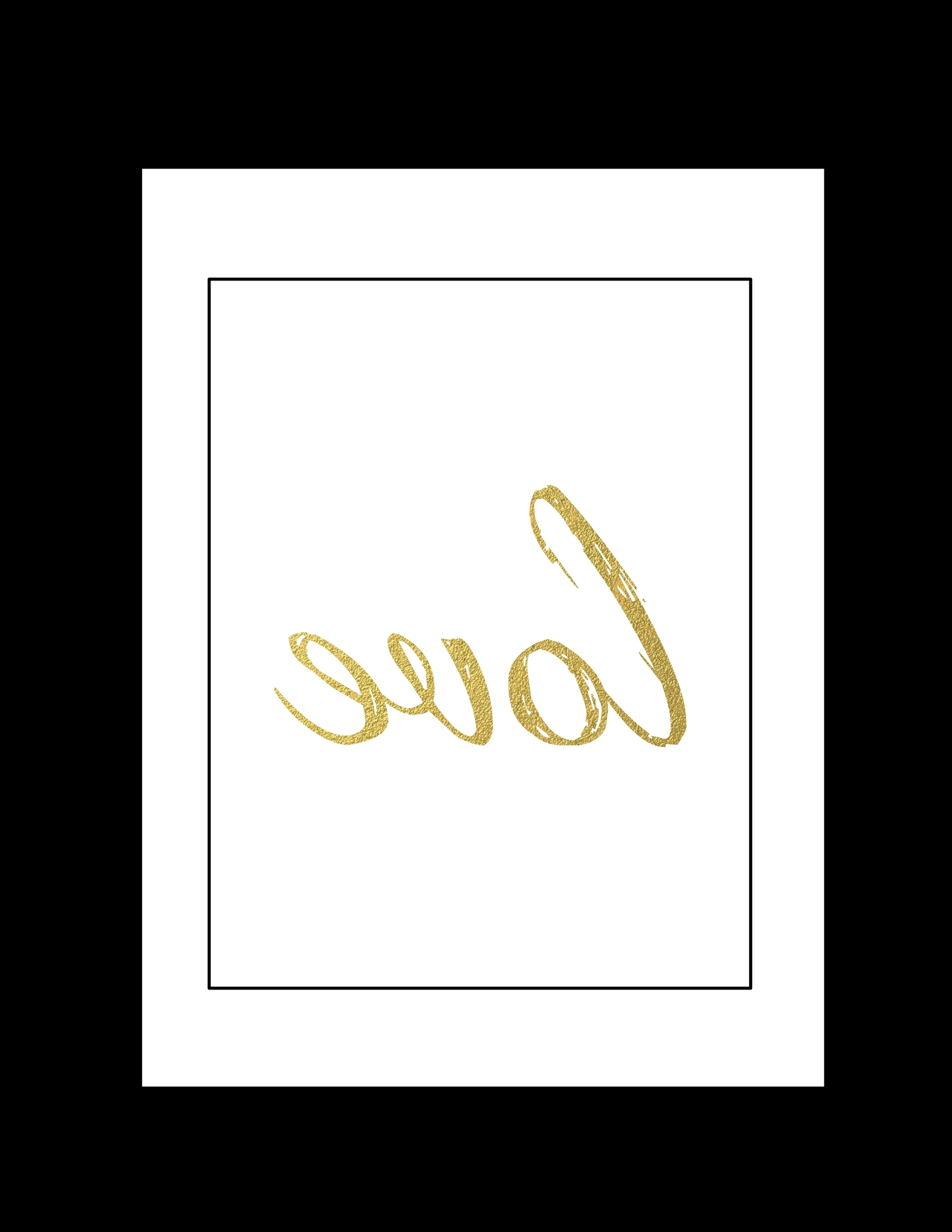 Black And Gold Wall Art With Regard To Preferred Free Printable Wall Art: Black And Gold Love – Paper Trail Design (View 8 of 20)