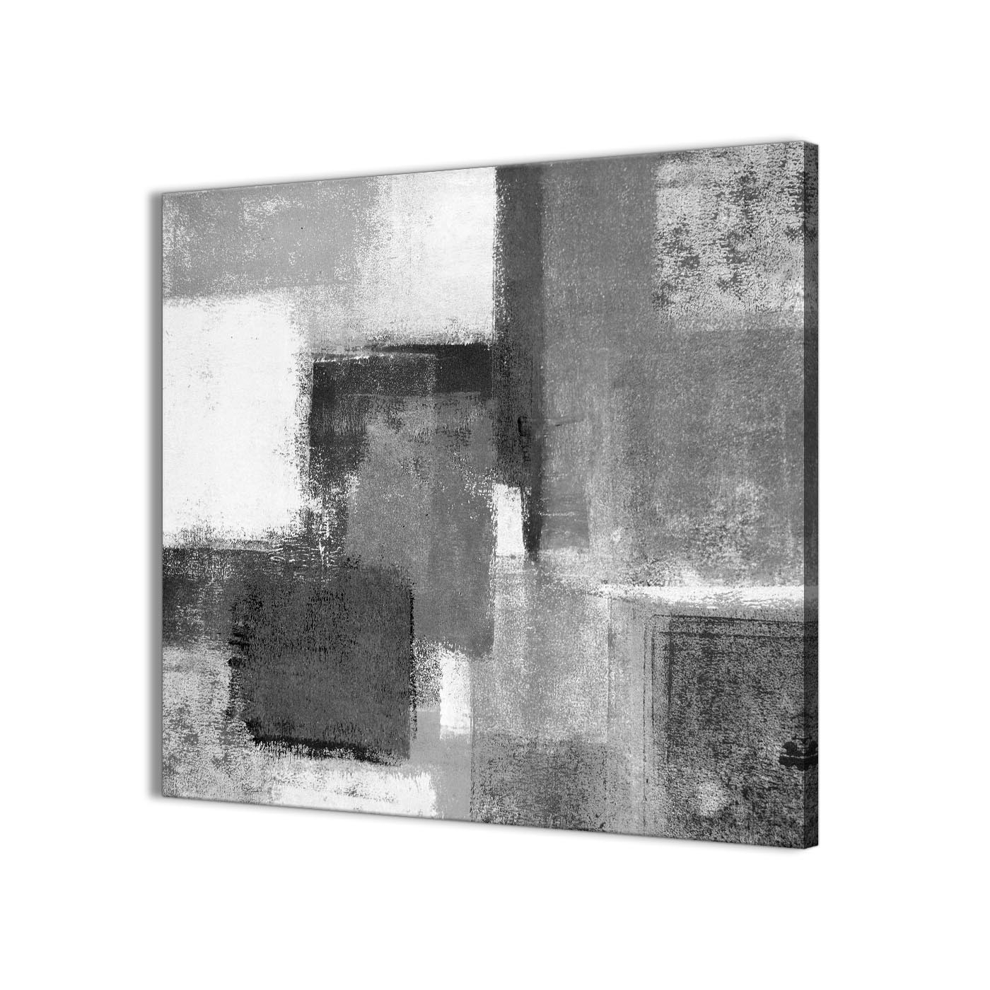 Black White Grey Abstract Office Canvas Wall Art Decorations 1S368L Throughout Recent White Wall Art (View 4 of 20)