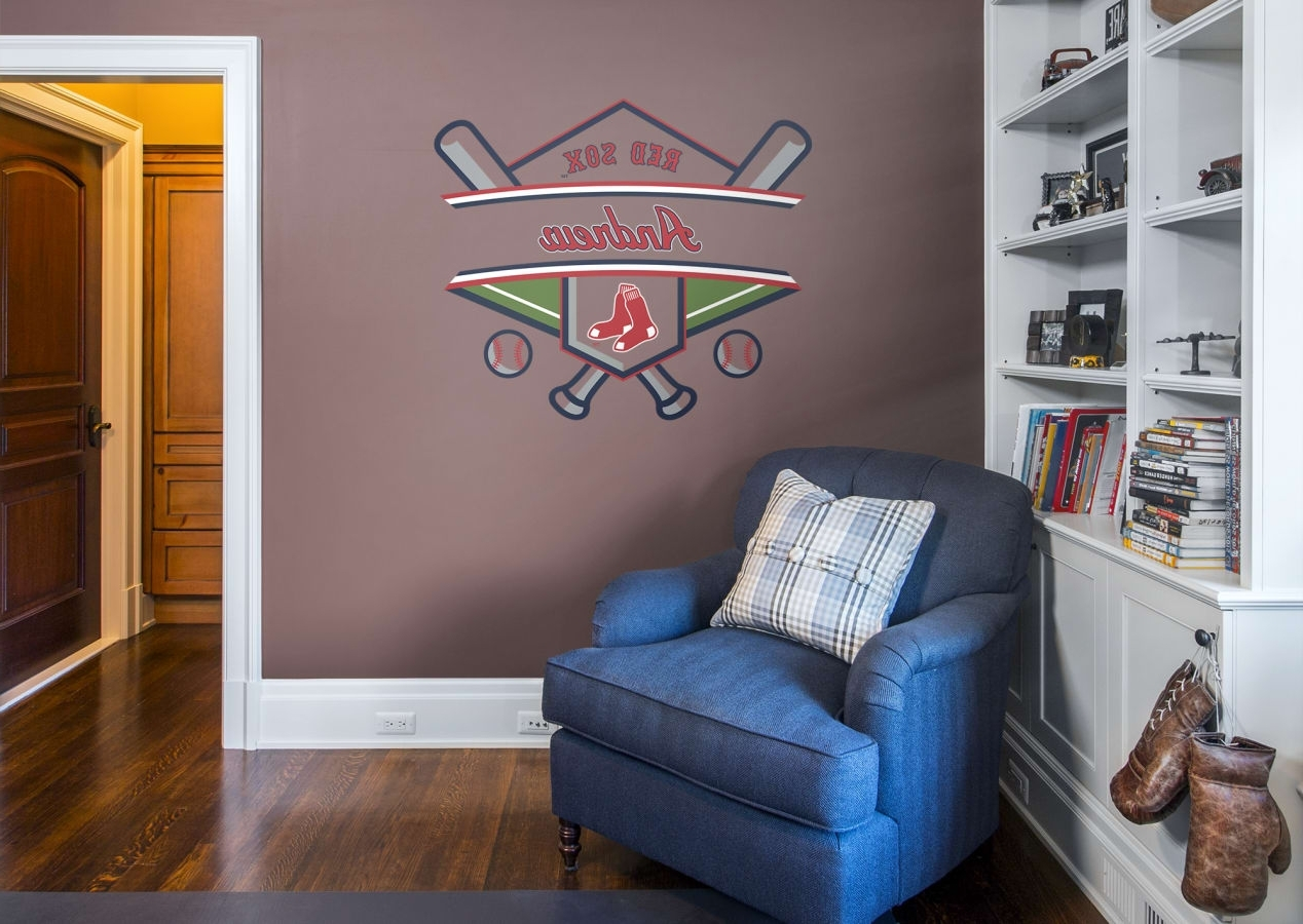 Boston Wall Art Intended For Trendy Boston Red Sox Personalized Name Wall Decal (Gallery 17 of 20)