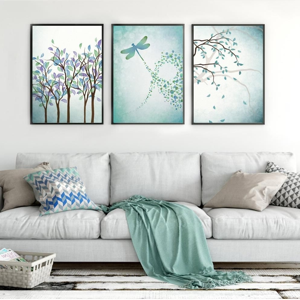Brand New Arrival Nordic Posters And Prints Plant Wall Art Canvas Inside 2017 Dragonfly Painting Wall Art (Gallery 15 of 20)